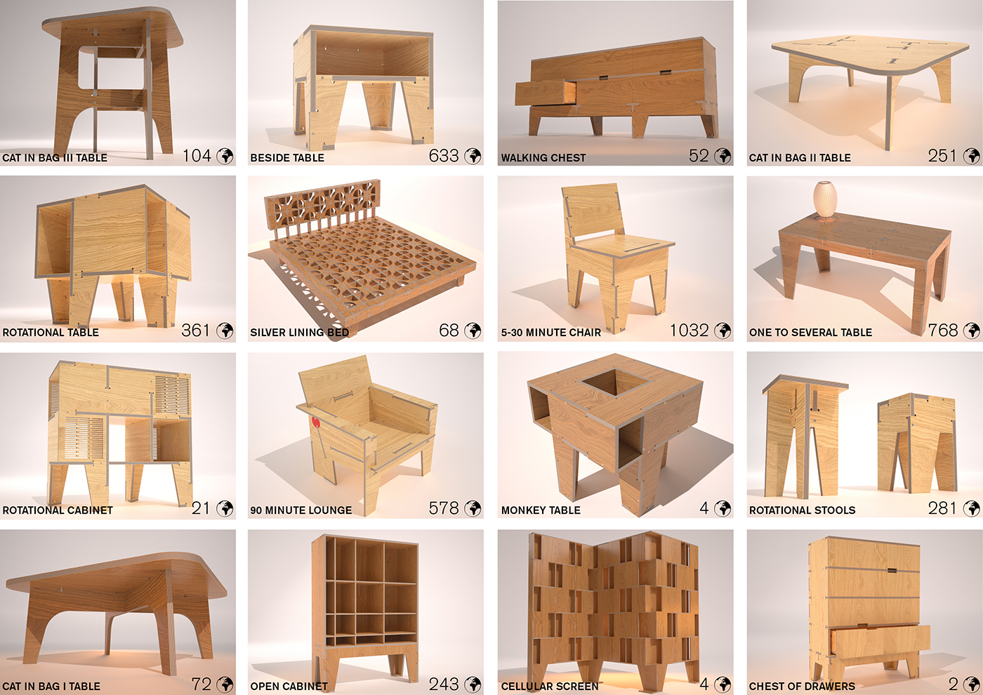 4474 CNC Furniture Downloads